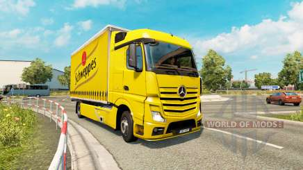 Tandem truck traffic v1.2 для Euro Truck Simulator 2