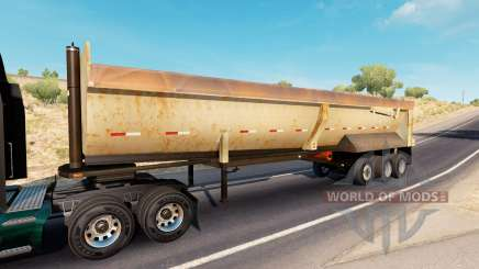 Rusty dumps trailer для American Truck Simulator