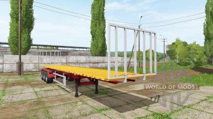 BsM bale semitrailer для Farming Simulator 2017
