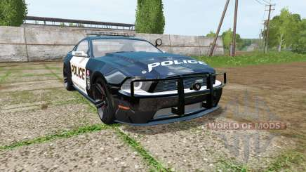 Ford Mustang Shelby GT Seacrest County Police для Farming Simulator 2017