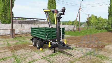 Fliegl timber trailer для Farming Simulator 2017