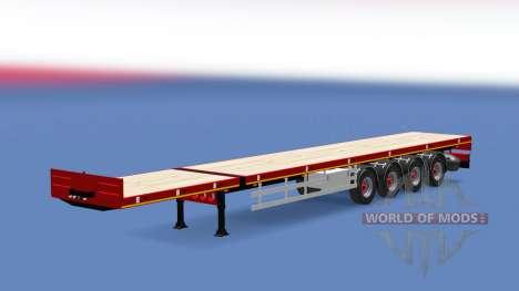 Doll flatbed trailer для Euro Truck Simulator 2