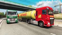 Painted truck traffic pack v2.5 для Euro Truck Simulator 2