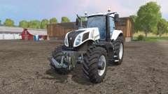 New Holland T8.435 white v1.1 для Farming Simulator 2015