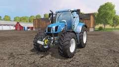 New Holland T6.160 front loader v1.1 для Farming Simulator 2015