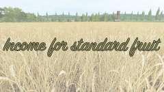 Income for standard fruit для Farming Simulator 2017
