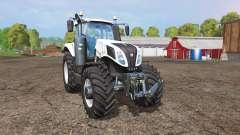 New Holland T8.435 white для Farming Simulator 2015