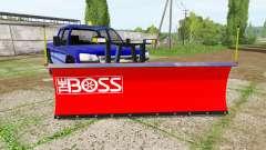 Chevrolet Silverado 2500 HD Crew Cab 2006 plow для Farming Simulator 2017