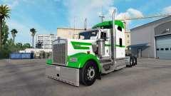Скин White & Green на тягач Kenworth W900