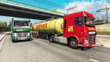 Painted truck traffic pack v2.5 для Euro Truck Simulator 2