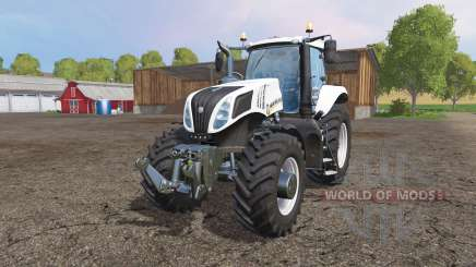 New Holland T8.435 white v1.1 для Farming Simulator 2015