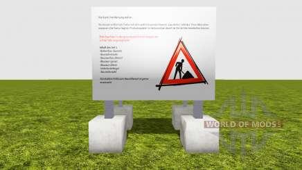 Ограждения строительных работ v1.2 для Farming Simulator 2015
