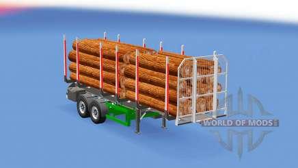 Small log trailer для Euro Truck Simulator 2