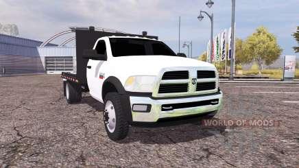 Dodge Ram 5500 Heavy Duty flatbead для Farming Simulator 2013