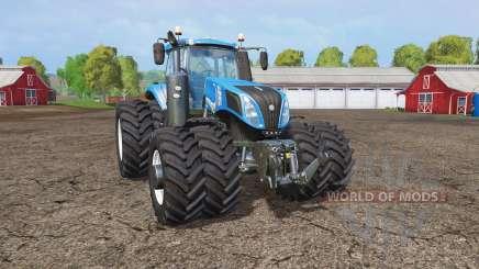 New Holland T8.320 twin wheels для Farming Simulator 2015
