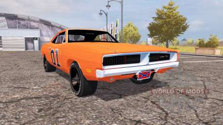 Dodge Charger RT (XS29) 1970 General Lee для Farming Simulator 2013