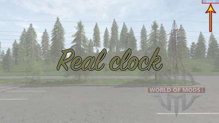 Real clock для Farming Simulator 2017