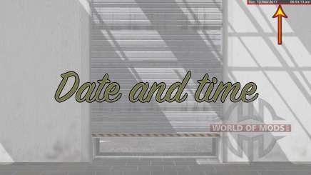 Date and time v2.0 для Farming Simulator 2017