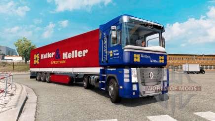 Painted truck traffic pack v2.4 для Euro Truck Simulator 2