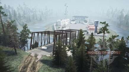 Затопленная деревня v2.0 для MudRunner