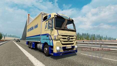 Tandem truck traffic v1.6.1 для Euro Truck Simulator 2