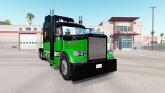 Скин Black & Green на тягач Peterbilt 389