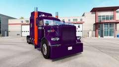 Скин Purple Orange на тягач Peterbilt 389
