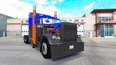 Скин Gray Orange v2.0 на тягач Peterbilt 389