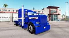 Скин Hard Blue v2.0 на тягач Peterbilt 389