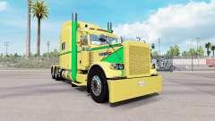 Скин Yellow Green на тягач Peterbilt 389