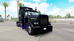 Скин Black & Purple на тягач Peterbilt 389