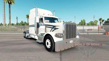 Скин Black Lining на тягач Peterbilt 389 для American Truck Simulator
