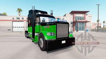 Скин Black & Green на тягач Peterbilt 389 для American Truck Simulator