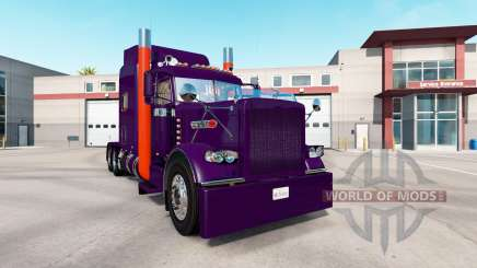 Скин Purple Orange на тягач Peterbilt 389 для American Truck Simulator