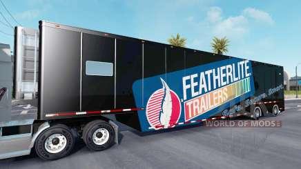 Featherlite semitrailer v1.4 для American Truck Simulator