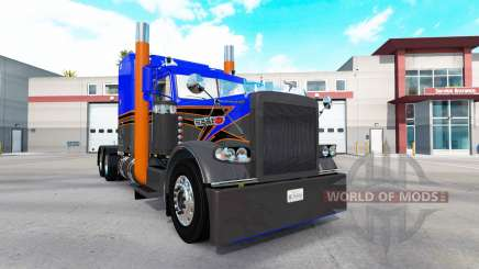Скин Gray Orange v2.0 на тягач Peterbilt 389 для American Truck Simulator