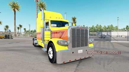 Скин Yellow Burst на тягач Peterbilt 389 для American Truck Simulator