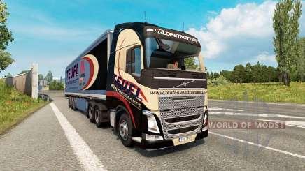 Painted truck traffic pack v2.8 для Euro Truck Simulator 2