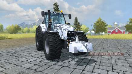 Deutz-Fahr Agrotron 7250 TTV arctic camo для Farming Simulator 2013