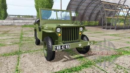 Jeep Willys MB 1942 v1.1 для Farming Simulator 2017