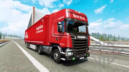Painted truck traffic pack v2.9 для Euro Truck Simulator 2
