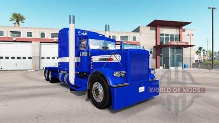 Скин Hard Blue v2.0 на тягач Peterbilt 389 для American Truck Simulator