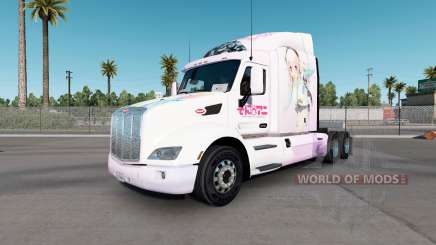 Скин Super Sonico на тягач Peterbilt 579 для American Truck Simulator