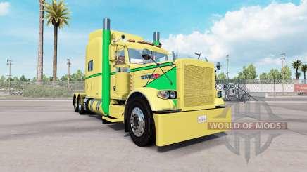 Скин Yellow Green на тягач Peterbilt 389 для American Truck Simulator