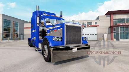 Скин Blue & Grey Metallic на тягач Peterbilt 389 для American Truck Simulator