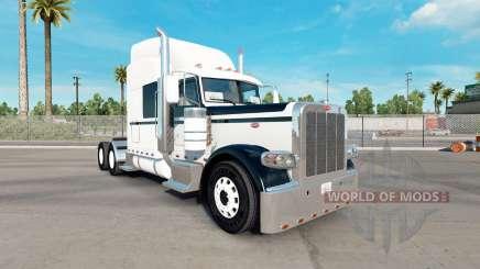 Скин Black & White на тягач Peterbilt 389 для American Truck Simulator