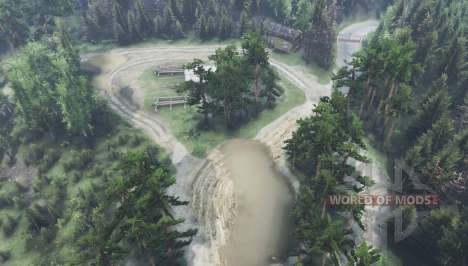 Разорванные берега v1.2 для Spin Tires