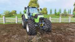 Deutz-Fahr Agrotron 7250 TTV front loader для Farming Simulator 2015