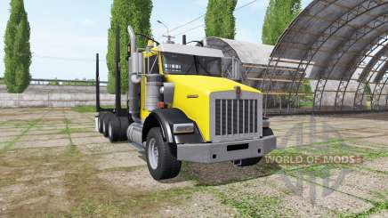 Kenworth T800B logging truck для Farming Simulator 2017