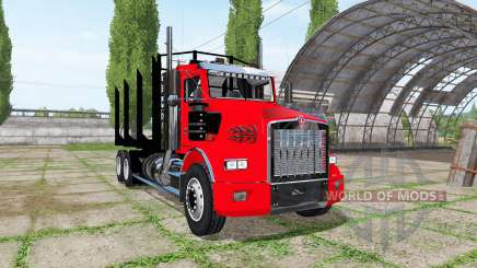 Kenworth T800 log truck для Farming Simulator 2017